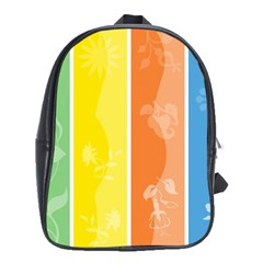 Floral Colorful Seasonal Banners School Bags (xl)  by BangZart