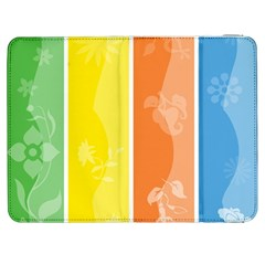 Floral Colorful Seasonal Banners Samsung Galaxy Tab 7  P1000 Flip Case by BangZart