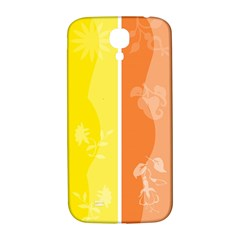 Floral Colorful Seasonal Banners Samsung Galaxy S4 I9500/i9505  Hardshell Back Case