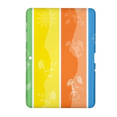 Floral Colorful Seasonal Banners Samsung Galaxy Tab 2 (10 1 ) P5100 Hardshell Case  by BangZart