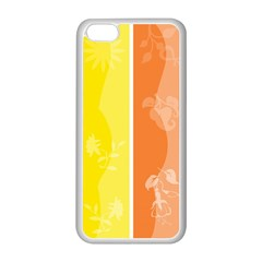 Floral Colorful Seasonal Banners Apple Iphone 5c Seamless Case (white) by BangZart