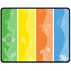 Floral Colorful Seasonal Banners Double Sided Fleece Blanket (medium)  by BangZart