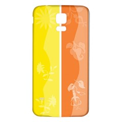 Floral Colorful Seasonal Banners Samsung Galaxy S5 Back Case (white) by BangZart