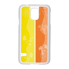 Floral Colorful Seasonal Banners Samsung Galaxy S5 Case (white) by BangZart