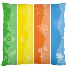 Floral Colorful Seasonal Banners Standard Flano Cushion Case (one Side) by BangZart