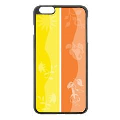 Floral Colorful Seasonal Banners Apple Iphone 6 Plus/6s Plus Black Enamel Case
