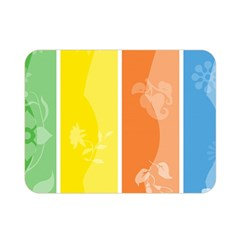 Floral Colorful Seasonal Banners Double Sided Flano Blanket (mini)