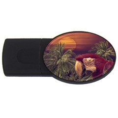 Tropical Style Collage Design Poster Usb Flash Drive Oval (2 Gb) by dflcprints
