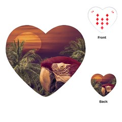 Tropical Style Collage Design Poster Playing Cards (heart)  by dflcprints