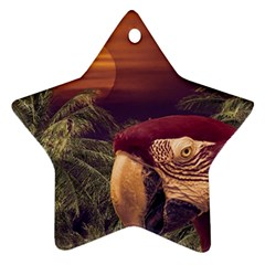 Tropical Style Collage Design Poster Star Ornament (two Sides) by dflcprints