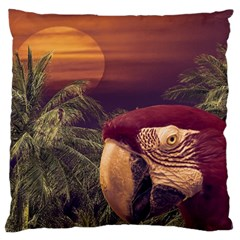 Tropical Style Collage Design Poster Large Cushion Case (one Side) by dflcprints