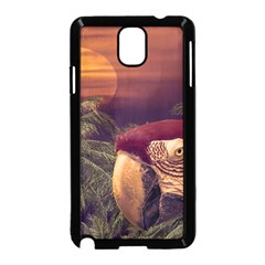 Tropical Style Collage Design Poster Samsung Galaxy Note 3 Neo Hardshell Case (black) by dflcprints