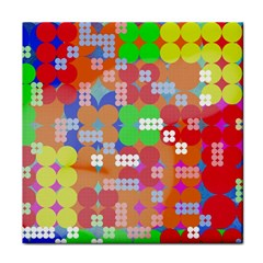 Abstract Polka Dot Pattern Tile Coasters by BangZart