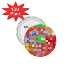 Abstract Polka Dot Pattern 1 75  Buttons (100 Pack)