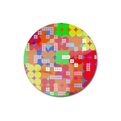 Abstract Polka Dot Pattern Magnet 3  (round) by BangZart