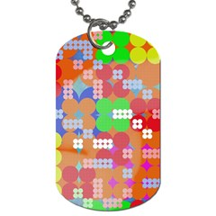 Abstract Polka Dot Pattern Dog Tag (two Sides) by BangZart