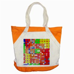 Abstract Polka Dot Pattern Accent Tote Bag