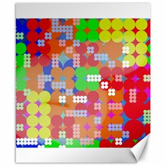 Abstract Polka Dot Pattern Canvas 8  X 10
