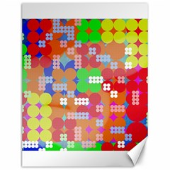 Abstract Polka Dot Pattern Canvas 12  X 16   by BangZart