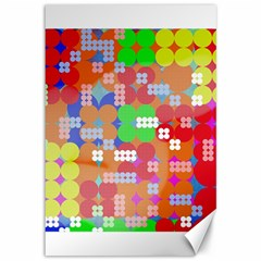 Abstract Polka Dot Pattern Canvas 12  X 18