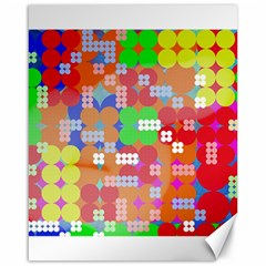 Abstract Polka Dot Pattern Canvas 16  X 20   by BangZart