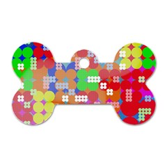 Abstract Polka Dot Pattern Dog Tag Bone (two Sides) by BangZart