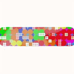 Abstract Polka Dot Pattern Large Bar Mats