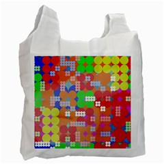 Abstract Polka Dot Pattern Recycle Bag (one Side) by BangZart