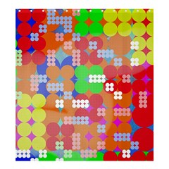 Abstract Polka Dot Pattern Shower Curtain 66  X 72  (large)  by BangZart