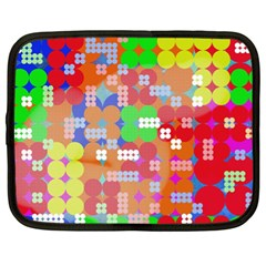 Abstract Polka Dot Pattern Netbook Case (xl)