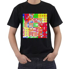 Abstract Polka Dot Pattern Men s T Shirt (black)