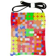 Abstract Polka Dot Pattern Shoulder Sling Bags by BangZart