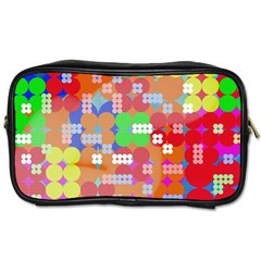 Abstract Polka Dot Pattern Toiletries Bags 2 Side by BangZart