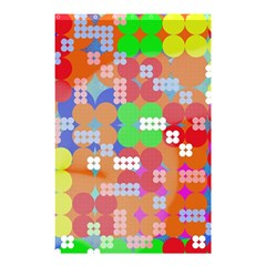 Abstract Polka Dot Pattern Shower Curtain 48  X 72  (small)  by BangZart