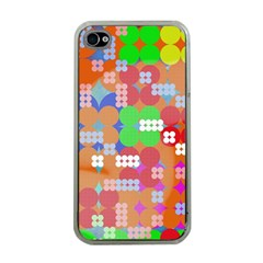 Abstract Polka Dot Pattern Apple Iphone 4 Case (clear) by BangZart