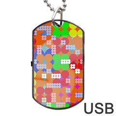 Abstract Polka Dot Pattern Dog Tag Usb Flash (one Side) by BangZart