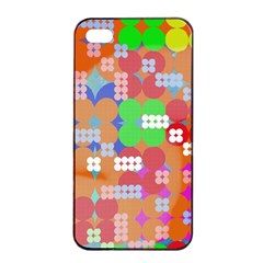 Abstract Polka Dot Pattern Apple Iphone 4/4s Seamless Case (black)