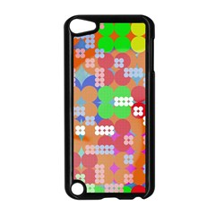Abstract Polka Dot Pattern Apple Ipod Touch 5 Case (black)