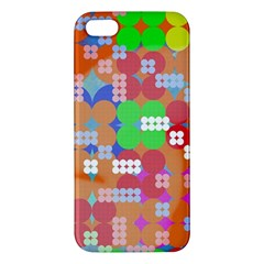 Abstract Polka Dot Pattern Apple Iphone 5 Premium Hardshell Case by BangZart