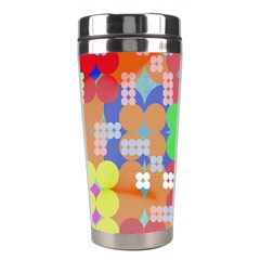 Abstract Polka Dot Pattern Stainless Steel Travel Tumblers