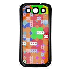 Abstract Polka Dot Pattern Samsung Galaxy S3 Back Case (black) by BangZart