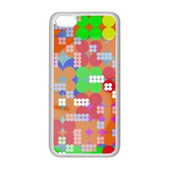 Abstract Polka Dot Pattern Apple Iphone 5c Seamless Case (white) by BangZart