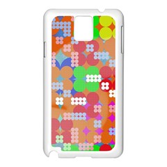 Abstract Polka Dot Pattern Samsung Galaxy Note 3 N9005 Case (white)