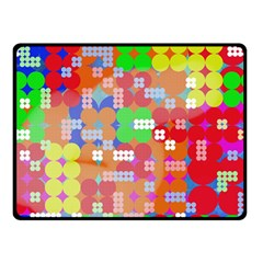 Abstract Polka Dot Pattern Double Sided Fleece Blanket (small)  by BangZart