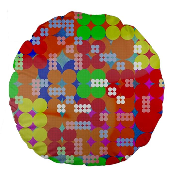 Abstract Polka Dot Pattern Large 18  Premium Flano Round Cushions