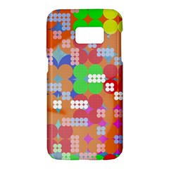 Abstract Polka Dot Pattern Samsung Galaxy S7 Hardshell Case
