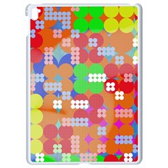 Abstract Polka Dot Pattern Apple iPad Pro 9.7   White Seamless Case