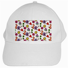 Cute Doodle Wallpaper Pattern White Cap by BangZart