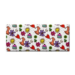 Cute Doodle Wallpaper Pattern Cosmetic Storage Cases by BangZart