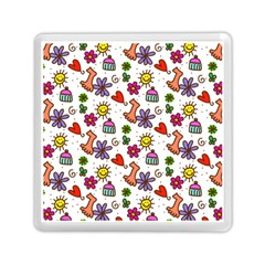 Cute Doodle Wallpaper Pattern Memory Card Reader (square)  by BangZart